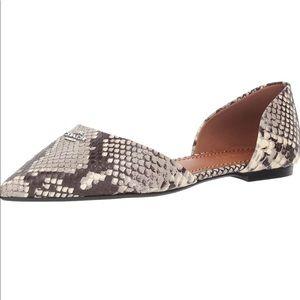 NWT COACH® Printed Exotic Pointy Toe Flat, Sz 6.5
